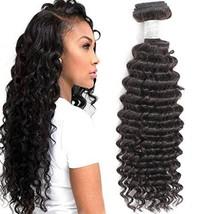 Misoun Hair 8A Unprocessed Brazilian Virgin Remy Hair Deep Wave Hair One Bundle