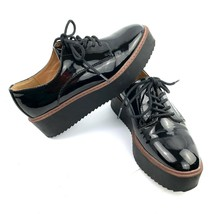 MADDEN GIRL 'Written' Black Faux Patent Leather Platform Oxfords Women S... - $19.79