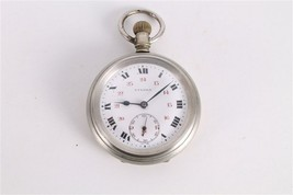 Antique Vintage Old Swiss Made Eterna Open Face Mens Pocket Watch. - $221.86