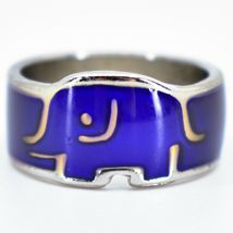 Baby Elephant Shape Children's Color Changing Fashion Mood Ring image 6