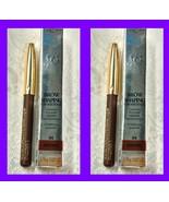 2 MINI - Lancome BROW SHAPING POWDERY PENCIL Eyebrow Filler Color 04 BRO... - $22.76