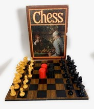 Vintage 1970 3M Bookshelf Classic Chess Game Complete Wood Board & Piece... - $24.74