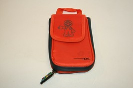 Nintendo DS Super Mario Brothers Orange Soft Carry Case Bag Travel Pouch - $9.89