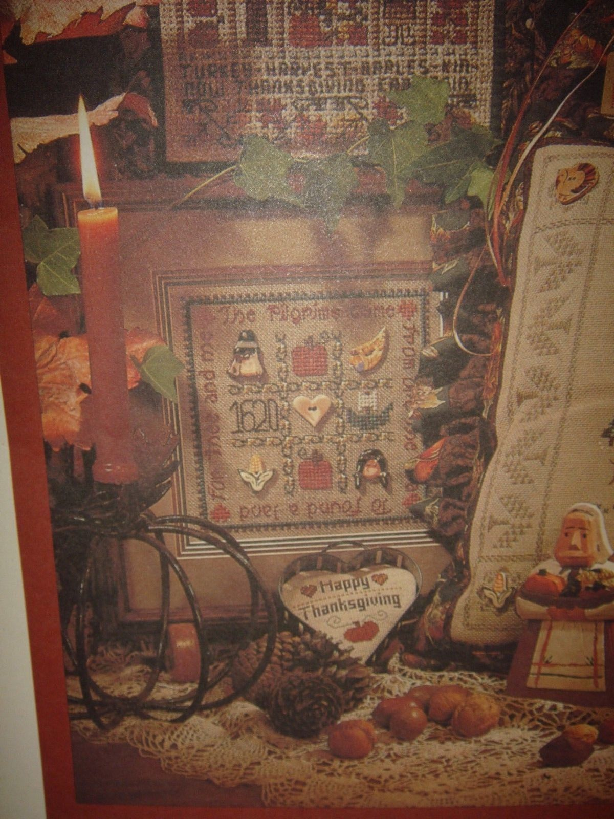 Shepards Bush Pattern Book, 18ct. Fabric And Homespun Heart Thanksgiving Buttons image 6