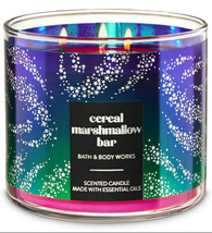 Bath & Body Works Cereal Marshmallow Bar Three Wick 14.5 Ounces Scented ... - $22.49
