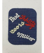 "Vintage Bud Schlitz Coors Miller Beer 3.5"" Embroidered Patch Brewery Hom... - $11.10"