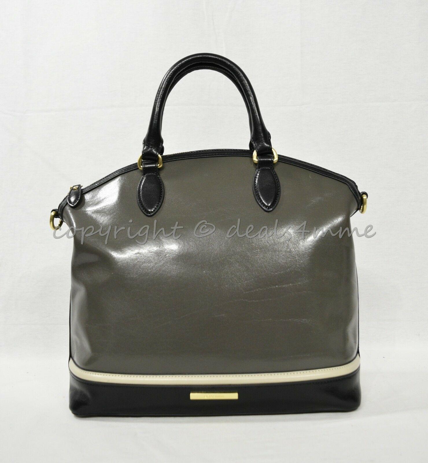NWD Brahmin Large Duxbury Satchel/Shoulder Bag in Charcoal Westport image 8