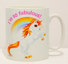 I'm So Fabulous Unicorn Mug Can Personalise Funny Cute Rainbow Daughter ... - $9.23