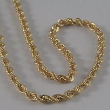 18K GOLD ROPE CHAIN, BRAID ROPE CORD, NECKLACE MADE IN ITALY, 18KT BRIGHT SHINY image 3