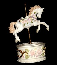 Horse Carousel Music Box (1980's) Works AA18-1631 Vintage image 2