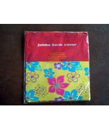 Target Washable Reusable Jumbo Book Cover Flowers Floral One Size Fits M... - $4.95
