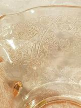 Old Vintage 30s Florentine #1 Pink Depression by Hazel Atlas Cream Soup Nut Bowl image 8