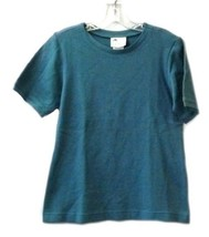Spruce Green Textured Crewneck S/S GALS of California XS Ladies Shirt New - $17.61