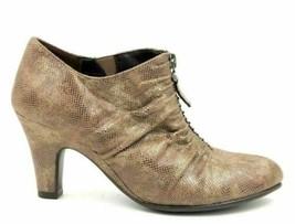 Aerosoles Jalapeno Women Ankle Booties Size 6.5M Brown Snake Print - $20.20