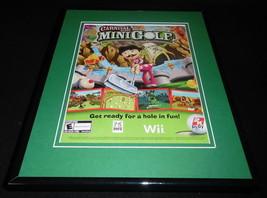 Carnival Games Mini Golf 2008 Wii Framed 11x14 ORIGINAL Advertisement - $34.64