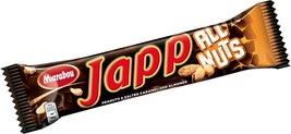 Marabou Japp All Nuts 60 gram Chocolate Bar Made in Sweden - $4.25+