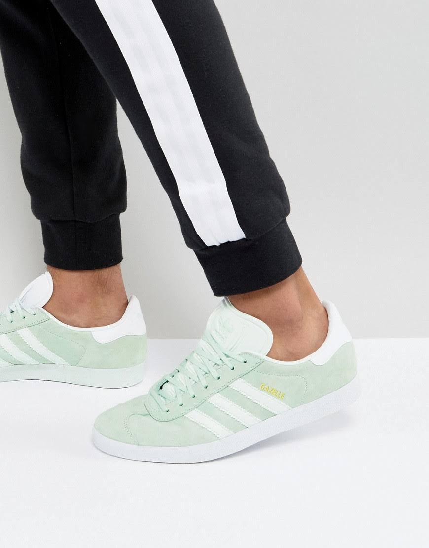 sports shoes 2890b b7932 adidas Originals Gazelle Sneakers In Green and 50 similar it