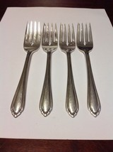 Rogers Oneida Rockingham Colchester Silverplated Salad Fork Lot Of 4 - O... - $15.99