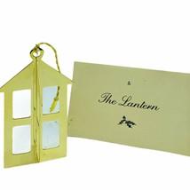 Danbury Mint 24k gold Christmas ornament vtg holiday figurine coa Lanter... - $24.14