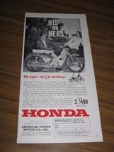 1962 Print Ad Honda 50 Motorcycles up to 225 Miles Per Gallon - $10.66
