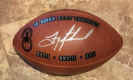 TROY AIKMAN AUTOGRAPHED HAND SIGNED NFL FOOTBALL 3X CHAMPS COWBOYS w/COA - $375.00