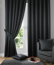 New Madison Black 46 x 54'' Pencil Pleat Curtains - $22.89
