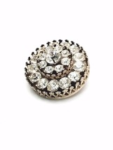 Vintage Signed Coro Gold Tone Crystal Brooch image 2
