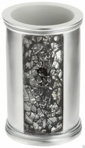 Popular Bath Sinatra Tumbler, Silver Resin And Cracked Ice Look - $17.81