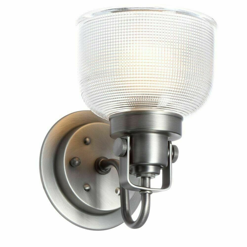 """Progress Lighting Archie Collection 5.75"""" in 1-Light Antique Nickel Bath Sconce - $39.59"""