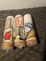 3 Rolls York BR4422B Baby Blocks Wallpaper Border Vintage Toys  - $29.03