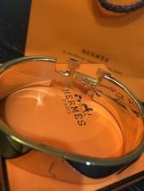 Authentic HERMES Clic Clac Wide Bracelet H BLACK GOLD HW SZ M Bangle  image 9