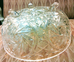 Pressed Glass Fruit Bowl Unmarked Vintage - $40.00