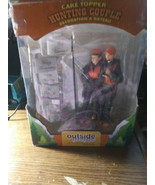 """Outside Inside  Hunting Couple Cake Topper 4.4"""" x 7.1"""" x 3"""" new open box - $34.60"""