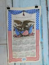 1976 Vintage Print Linen Wall Calendar Tea Towel Congress Unused Craft A27 - $14.69