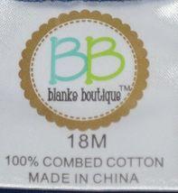 Blanks Boutique Boys Long Sleeved Romper Size 18 Months Color Blue image 3