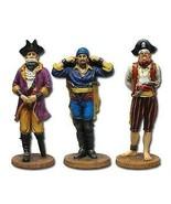 Set of Three Pirate See Hear Speak No Evil Decorative Shelf Sitter Figur... - $18.80
