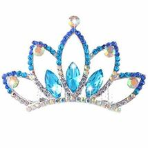 Elegant Plate Hair Comb Jewel Crown Bridal Headdress - $13.86