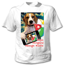 Beagle Selfie - New Cotton White Tshirt - $19.59