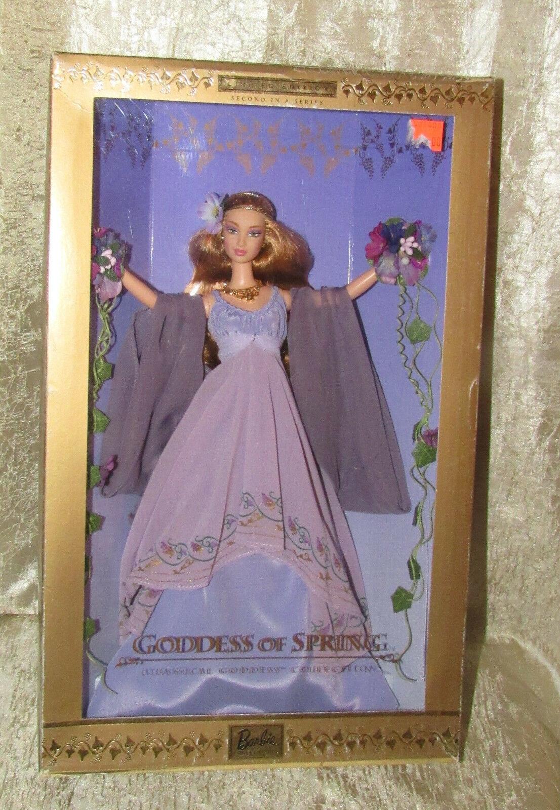 VHTF NRFB GODDESS OF SPRING Collector Barbie Doll Classical Greek LTD ED 2000