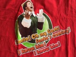 "Elf The Movie Santa's Coming  T-shirt Mens Size XL ""I Know Him!"" Rare Mint - $14.24"