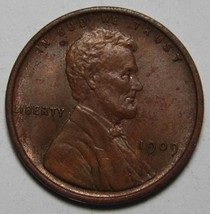 1909 One Cent Lincoln Head Penny Coin Lot# A 2134
