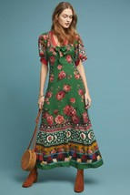 NWT ANTHROPOLOGIE BOLERO MAXI DRESS by FARM RIO LP (fits like S/M) - $142.49