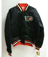 Vintage Starter Philadelphia Flyers Black Satin Jacket Coat Large USA - $89.00
