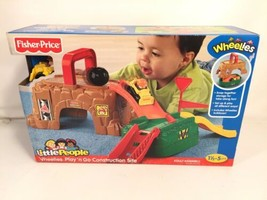 Fisher Price Little People Wheelies Play N Go Construction Site Travel Play Set - $39.59