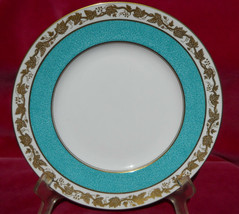 """Wedgwood Whitehall Luncheon Plate S 9"""" W3992 Powder Turquoise Rare - $38.60"""