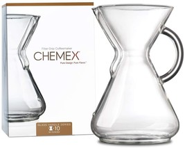 CHEMEX Pour-Over Glass Coffeemaker - Glass Handle Series - 10-Cup - Excl... - $58.96