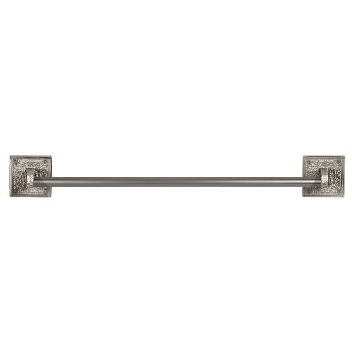 The Copper Factory CF132SN Solid Copper 24-Inch Towel Bar with Square Backplates