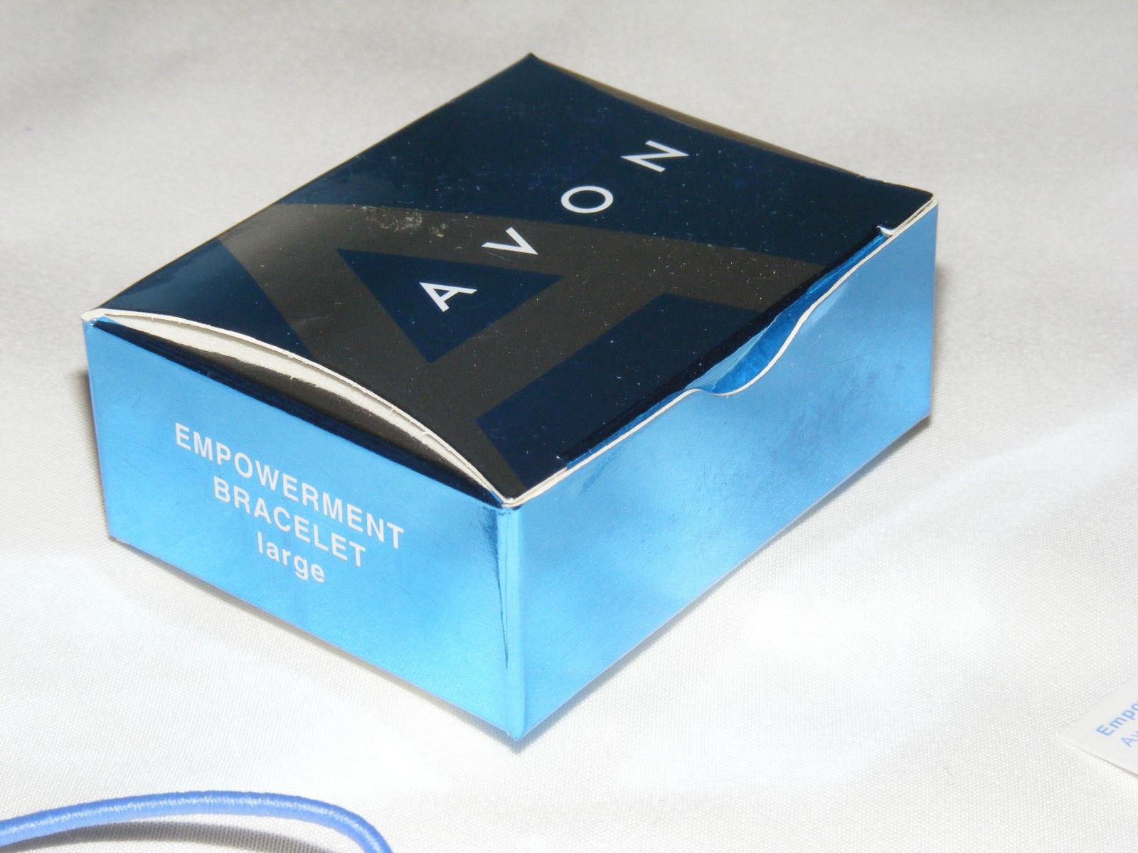 NIB (2008) AVON Empowerment Bracelet Infinity Symbol on Stretch Cord - Large AV5 image 3