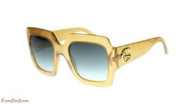 d39ac2c0e11c Gucci Women Square Sunglasses GG0053S 006 Gold/Grey Gradient Lens 54mm A..