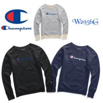 Champion Powerblend Women's Fleece Boyfriend Crew Script Logo W2956G Y07418 - $28.95